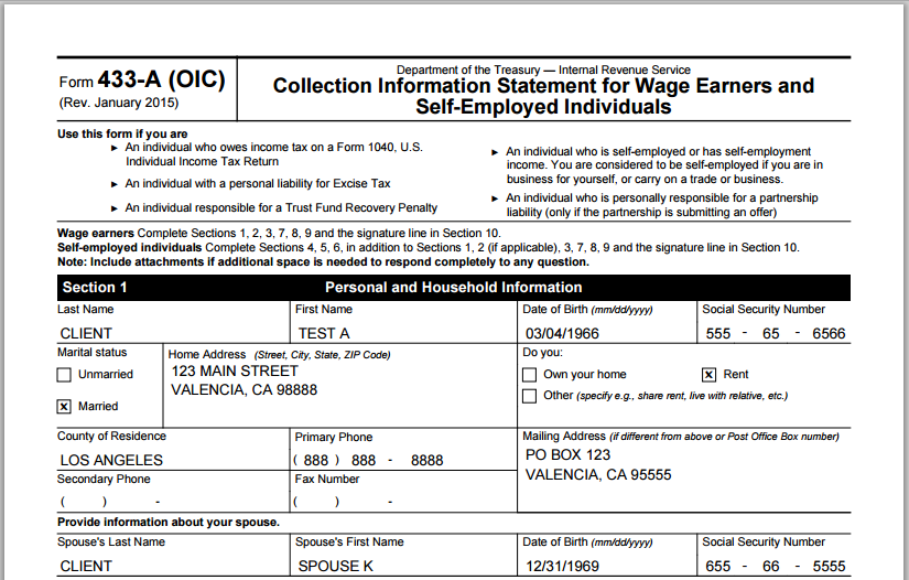 IRS Solutions - Up to date forms