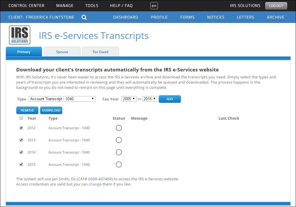 Download Transcripts