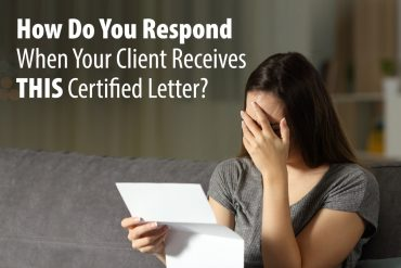 How Do You Respond When Your Client Receives THIS Certified Letter?