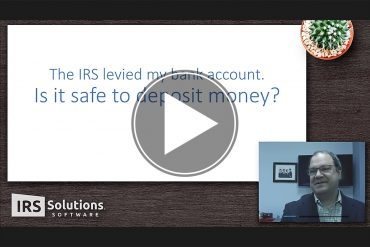 Solving IRS Levies in 4 Minutes