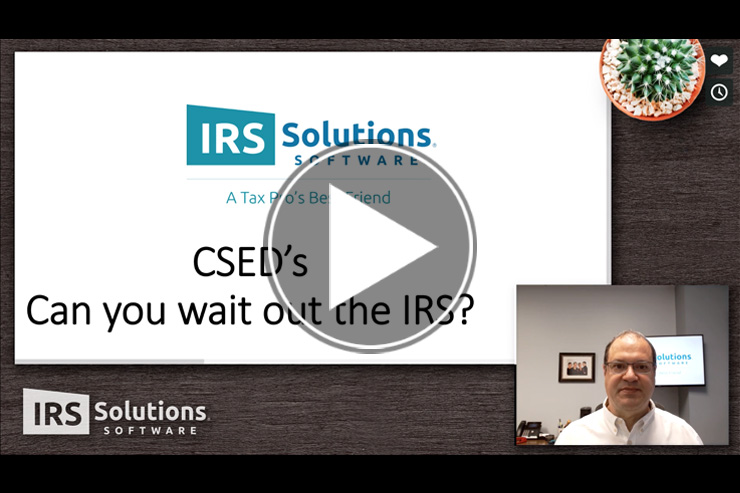 IRS Solutions Software Co-Owner speaks about CSED
