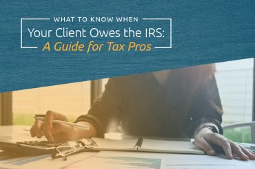 client owes IRS