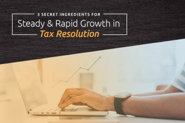 growth in tax resolution